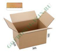 Гофрированная коробка 365х235х165 мм, Т-23, бурый